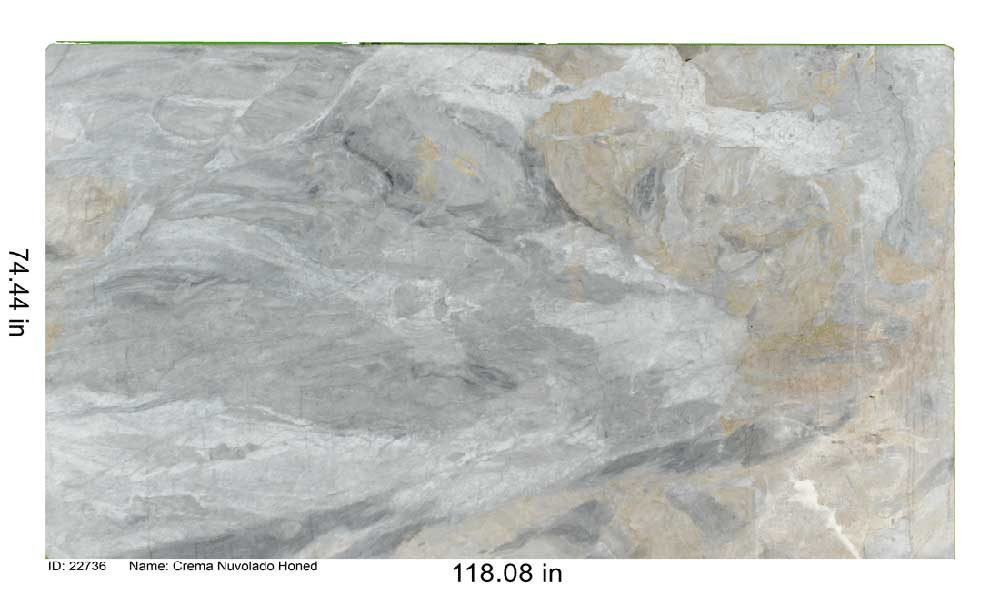 Crema Nuvolado Honed Marble