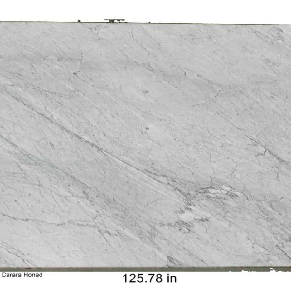 White Carara Honed Marble