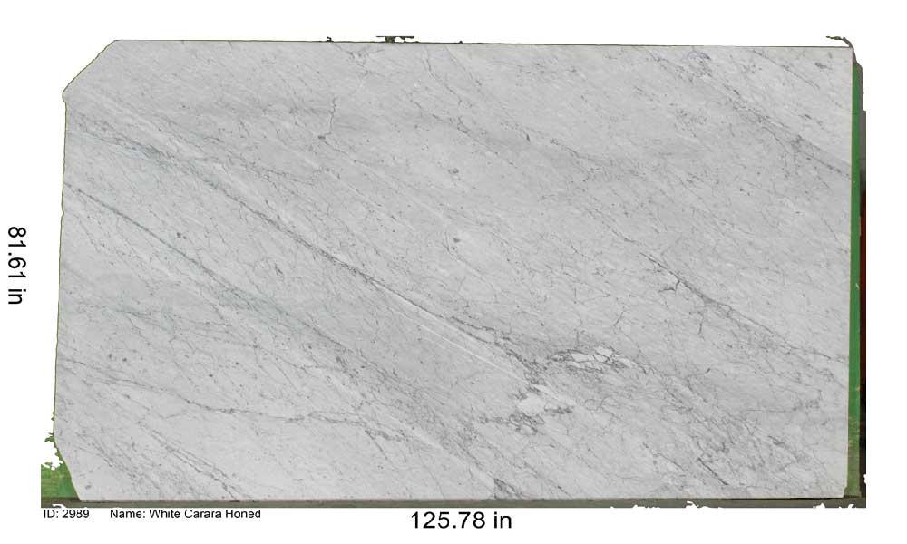 White Carara Honed Marble